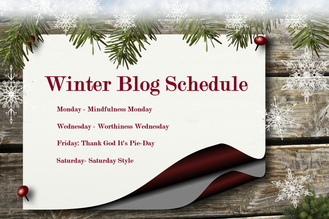 Winter Blog Post Schedule (Update)